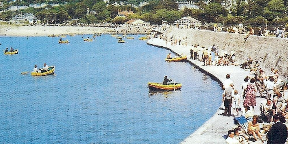 Rowing Boats on the lake 1950s